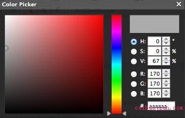 Opera's color picker